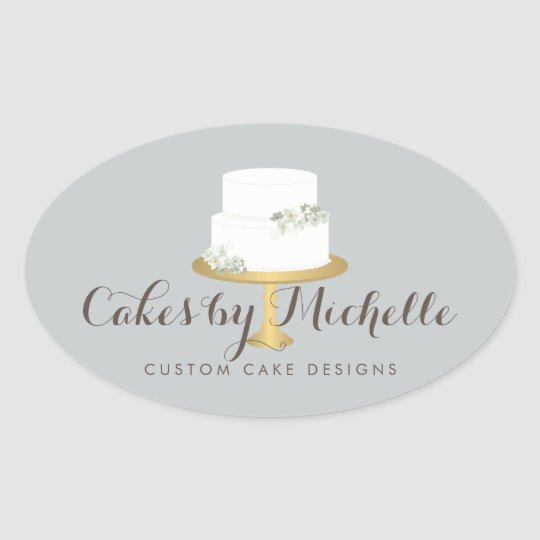 Elegant White Cake with Florals Cake Decorating Oval