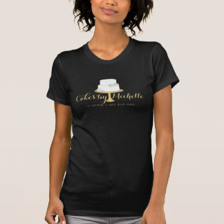 Elegant White Cake with Florals II Tee Shirts