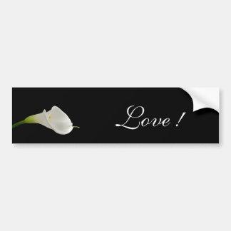 Elegant white calla lily bumper sticker