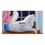 Elegant White Cat Business Card