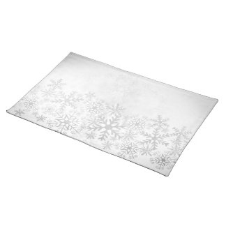 Elegant white Christmas mat