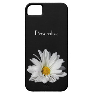 Elegant White Daisy Flower With Name iPhone 5 Cover