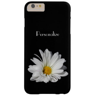 Elegant White Daisy Flower With Name Barely There iPhone 6 Plus Case