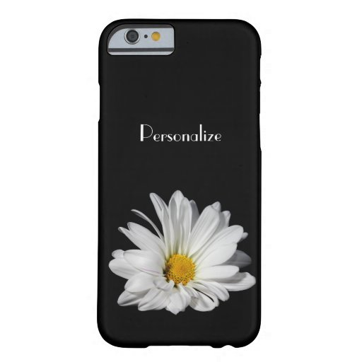 Elegant White Daisy Flower With Name iPhone 6 Case
