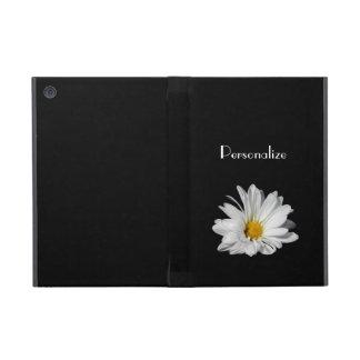 Elegant White Daisy Flower With Name Case For iPad Mini