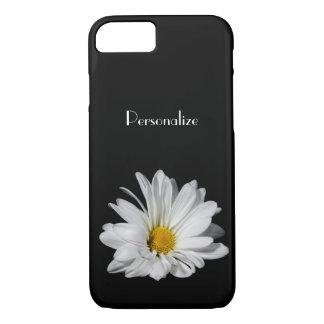 Elegant White Daisy Flower With Name iPhone 7 Case