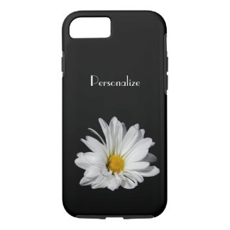 Elegant White Daisy Flower With Name iPhone 7 Case