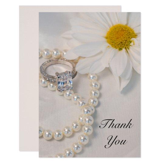Elegant White Daisy Wedding Flat Thank You Notes