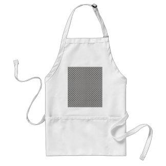elegant white damask circles on black background apron