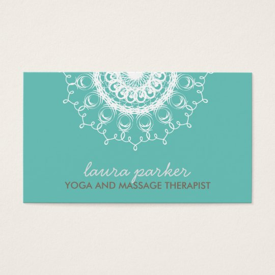 Elegant White Damask Swirl Yoga Healing Health Business
