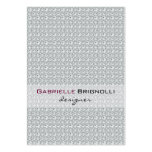 Elegant White Diamonds Seamless Pattern 2 Business Cards