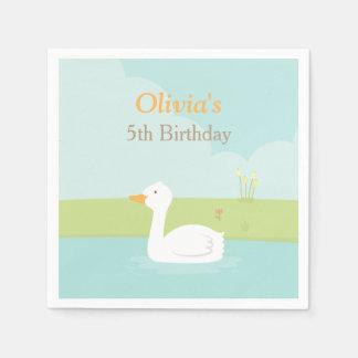 Elegant White Duck Birthday Party Supplies Napkins Paper Napkins