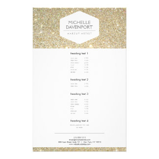 ELEGANT WHITE EMBLEM ON GOLD GLITTER Flyer