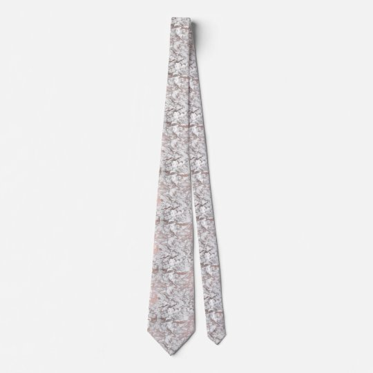 Elegant white faux rose gold modern marble tie