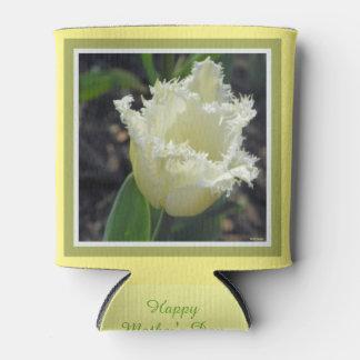Elegant White Frayed Tulip with Border Design