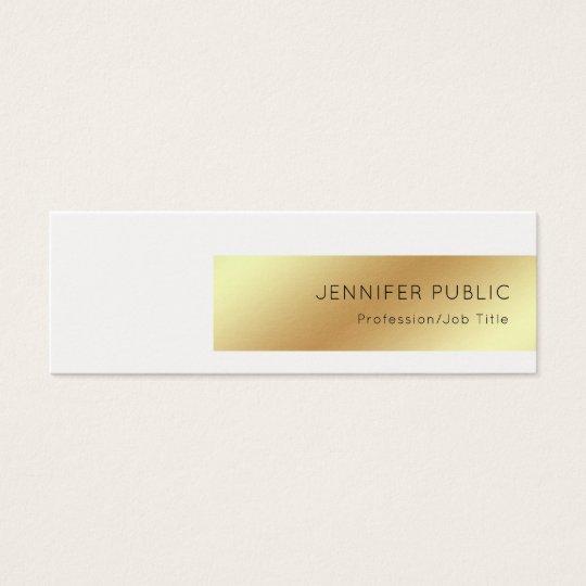 Elegant White Gold Modern Professional Chic Simple Mini