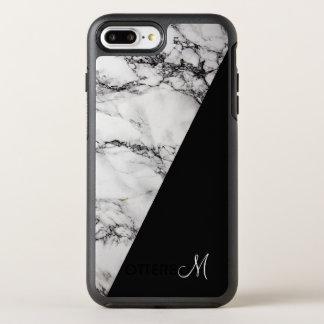Elegant White Gray And Black Marble Stone OtterBox Symmetry iPhone 8 Plus/7 Plus Case