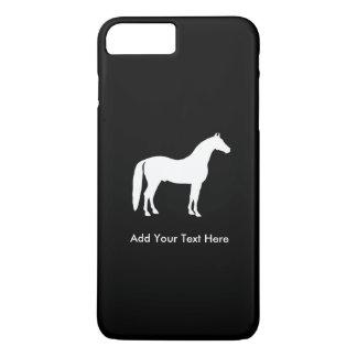 Elegant White Horse Customizable Text iPhone 8 Plus/7 Plus Case