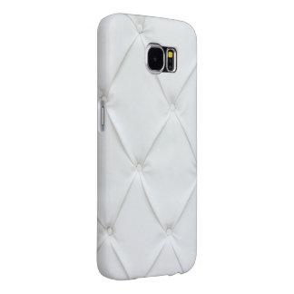 Elegant White Leather Samsung Galaxy S6 Cases