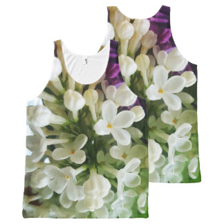 Elegant white lilac blossom photo All-Over print tank top