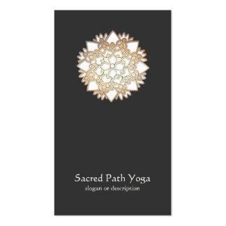 Elegant White Lotus Flower Mandala Business Card