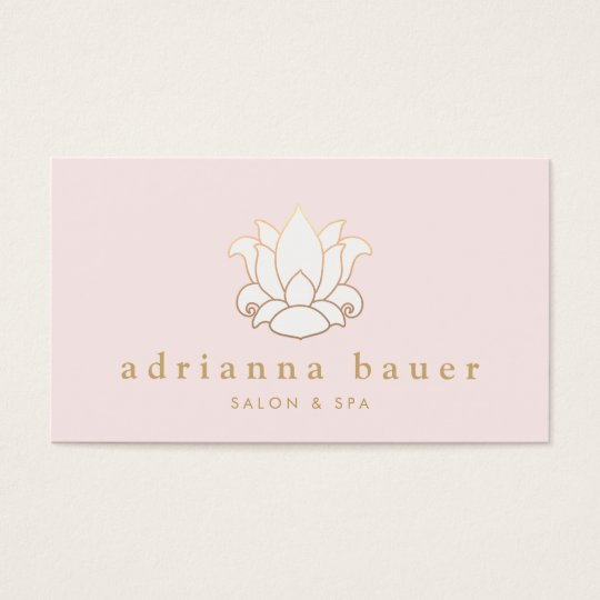 Elegant White Lotus Flower Pink Salon and Spa