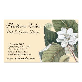Elegant White Magnolia Business Cards