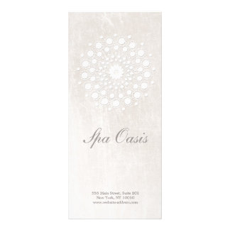 Elegant White Marble  Hair Salon and Spa Menu Personalised Rack Card