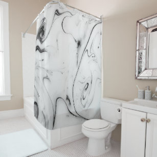 Elegant White Marble Image Shower Curtain