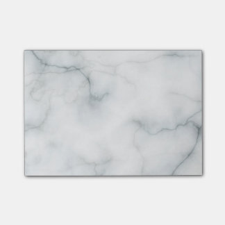 elegant white marble post-it notes