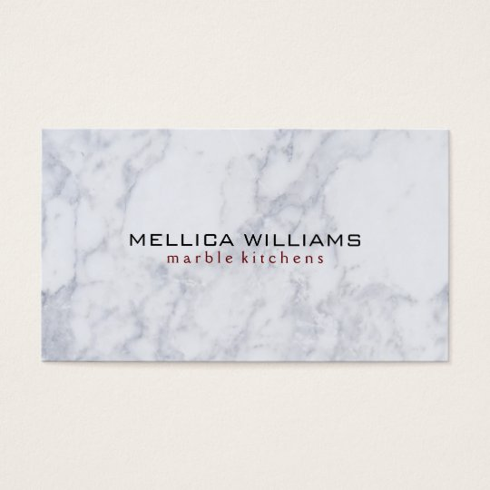 Elegant White Marble Stone background Business Card