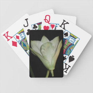 "Elegant White Orchid ""Dendrobium"" Playing Cards"