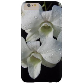 Elegant White Orchid Floral Photo Barely There iPhone 6 Plus Case