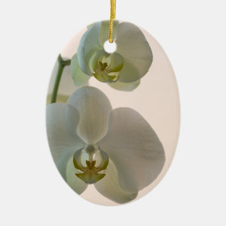 Elegant White Orchids Bridesmaid Thank You Ceramic Oval Decoration