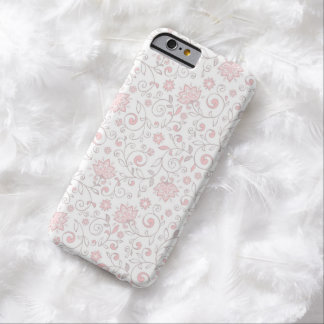 Elegant White Pink Floral Pattern iPhone 6 Case