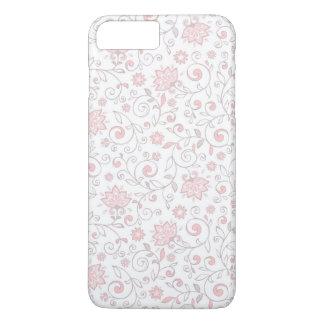 Elegant White Pink Floral Pattern iPhone 7 Plus Case