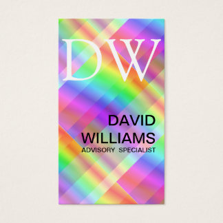 ELEGANT WHITE PROFESSIONAL IRIDESCENT HOLOGRAM BUSINESS CARD