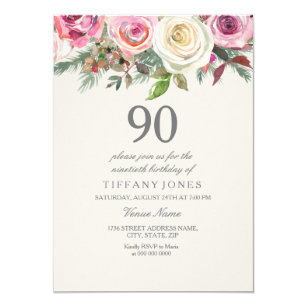 90th Birthday Invitations Zazzle Uk