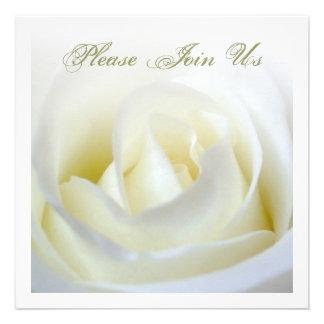 Elegant White Rose Invitation
