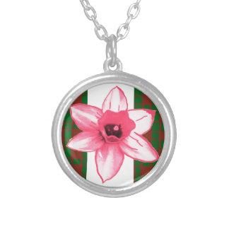 Elegant Wild Exotic Cactus Flower on Shirts  GiftS Personalized Necklace