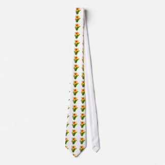 Elegant Wild Exotic Cactus Flower on Shirts  GiftS Tie