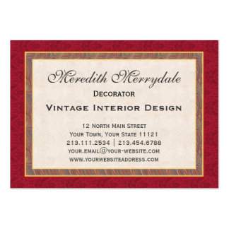 Elegant Wild Flowers and Damask Decorator's Business Card Templates