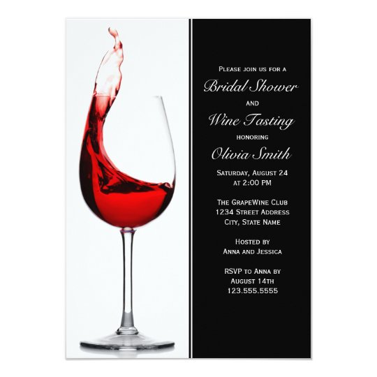 elegant wine glass bridal shower invitations zazzle co uk