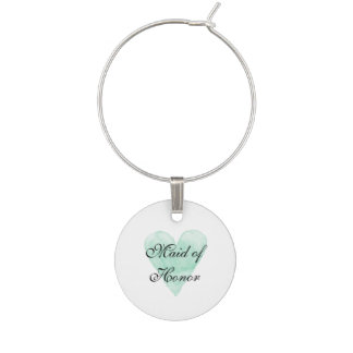 Elegant wine glass charms for chic wedding party
