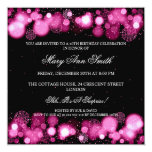 Elegant Winter 40th Birthday Party Pink Personalized Invitations
