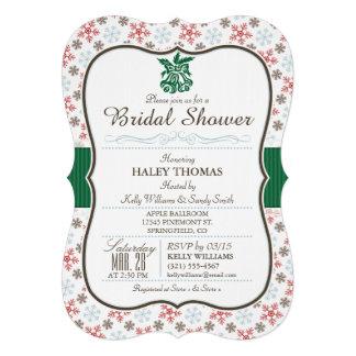 Elegant Winter Bridal Shower Snowflakes Card