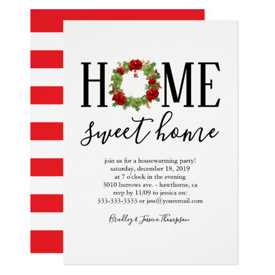 Elegant Winter New Home Housewarming Party Card