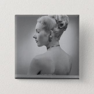 Elegant Woman 15 Cm Square Badge