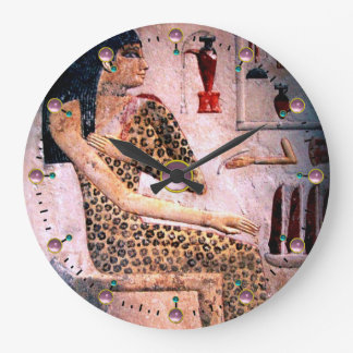 ELEGANT WOMAN ,FASHION AND BEAUTY OF ANTIQUE EGYPT LARGE CLOCK