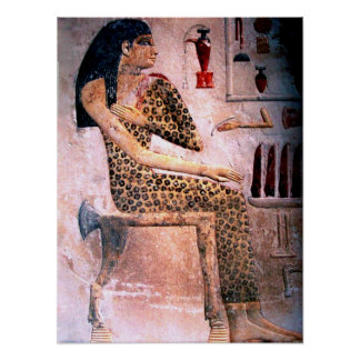 ELEGANT WOMAN FASHION AND BEAUTY OF ANTIQUE EGYPT POSTER